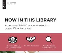 Books De Gruyter Publishers - dostępna nowa kolekcja...