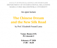 """Wykład """"The Chinese Dream and the New Silk Road"""""""
