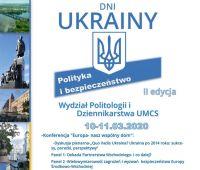 ODWOŁANE - Dni Ukrainy: Polityka i bezpieczeństwo