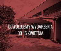 Zawieszenie wydarzeń w Chatce Żaka