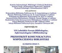 Forum Bibliologów – odwołane!