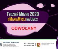 Tydzień Mózgu 2020 #MariaMyśli na UMCS - odwołany