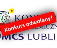 Konkurs Biochemiczny odwołany!