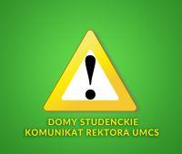 Komunikat Rektora UMCS - domy studenckie