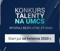 """Wygraj bezpłatne studia - konkurs """"Talenty na UMCS"""" dla..."""