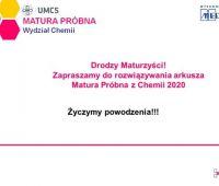 Matura Próbna z Chemii 2020 - arkusz