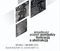 """Zaproszenie na wystawę """"Pomiędzy ilustracją a abstrakcją""""..."""