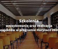 Nadchodzące szkolenia: Horyzont 2020