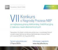 Konkursy o Nagrodę Prezesa NBP za najlepszą pracę...