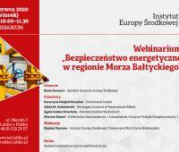"""Webinarium """"Bezpieczeństwo energetyczne w regionie Morza..."""
