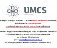 Obsługa interesantów na Wydziale Chemii UMCS