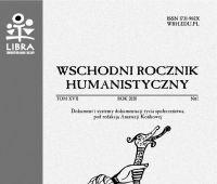 """""""Wschodni Rocznik Humanistyczny"""" - nowy numer"""