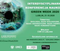 """Green Week 2020"" - interdyscyplinarna konferencja naukowa"