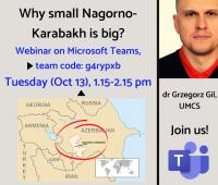 """Webinarium """"why small Nagorno-Karabakh is big?"""""""