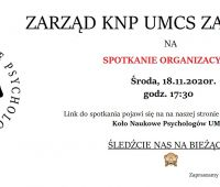 Nabór członków do Koła Naukowego Psychologów UMCS