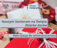Naszym seniorom na Święta - zbiórka darów
