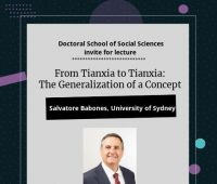 "Lecture ""From Tianxia to Tianxia: The Generalization..."