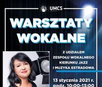 Zaproszenie na warsztaty wokalne (13.01.2021)