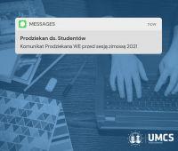 Komunikat Prodziekana przed sesją zimową 20/21