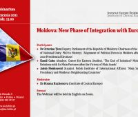 "Webinarium ""Moldova: New Phase of Integration with Europe"""