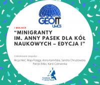 Zespół Koła GeoIT z wydziału Nauk o Ziemi i Gospodarki...