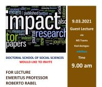 Guest Lecture by Professor ROBERTO RABEL