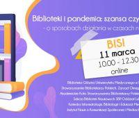 Konferencja: Biblioteki i pandemia: szansa czy katastrofa...