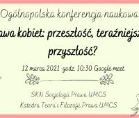 Konferencja na temat praw kobiet - zapowiedź