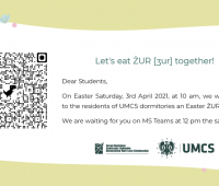 Easter treats for students staying in UMCS dormitories