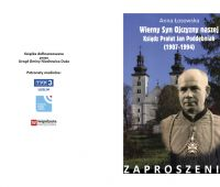 Zaproszenie na spotkanie poświęcone ks. Janowi Poddębniakowi