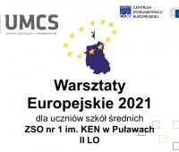 Kwietniowe Warsztaty Europejskie