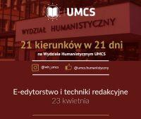 """E-edytorstwo i techniki redakcyjne - """"21 kierunków..."""