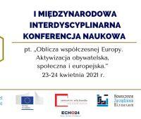 I Międzynarodowa Interdyscyplinarna Konferencja Naukowa