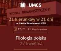 """Filologia polska - """"21 kierunków w 21 dni"""""""
