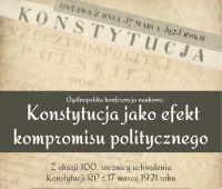 "OKN ""Konstytucja jako efekt kompromisu..."