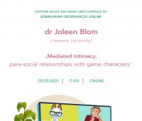 Seminarium z dr Joleen Blom z  Uniwersytetu w Tampere,...