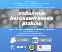 """""""Coronavirus infections in birds"""" - online lecture"""