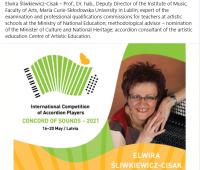 Prof. dr hab. Elwira Śliwkiewicz-Cisak jurorem...