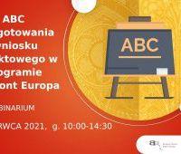 ABC przygotowania wniosku projektowego w programie...