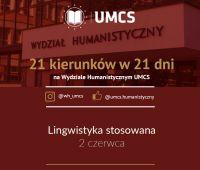 """Lingwistyka stosowana - """"21 kierunków w 21 dni"""""""