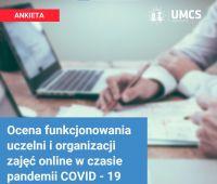 Ocena funkcjonowania uczelni i organizacji zajęć online w...
