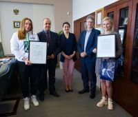 Medalistki olimpijskie z Tokio nagrodzone przez Rektora UMCS