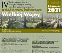 IV Konferencja - dziedzictwo Wielkiej Wojny