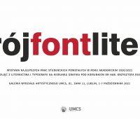"Invitation to exhibition ""krój font litera"""