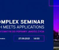 27 września 2021 - ECOTECH-COMPLEX Seminar. Where...