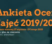 Ankieta oceny zajęć w semestrze zimowym 2019/2020