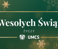 Christmas greetings from the Rector of UMCS (in English)