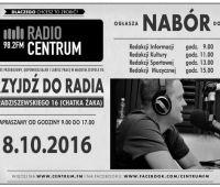 Nabór do Radia Centrum - 8 października