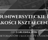 Trwa Ogólnouniwersyteckie Badanie Jakości Kształcenia
