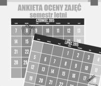 Ankieta oceny zajęć za semestr letni 2014/2015